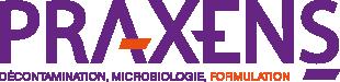 Logo Praxens Formulation Décontamination et Microbiologie